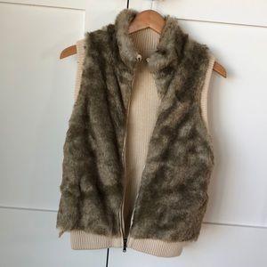 Reversible fur vest worn once